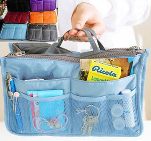 2015 New Ladies Small Bag women's handbags Organizer Multi Functional Insert Purse Large Makeup Storage Travel Handbag(China (Mainland))
