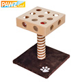 Domestic Delivery Pet Puzzle Toy 17Hole Sound Balls Cat Toys Tree Kitten Furniture Scratchers Solid Wood