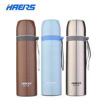 Haers Metal Thermos 500ml Durable 18/8 Stainless Steel Thermal Bottle Insulated Portable Coffee Thermos Water Bottle LB-500-13(China (Mainland))
