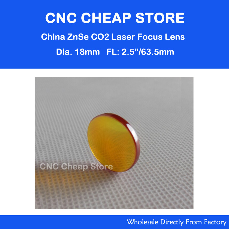 Free Shipping China ZnSe Laser Lens diameter 18mm focus length 63.5mm for co2 laser cutting engravering machine cutter parts(China (Mainland))