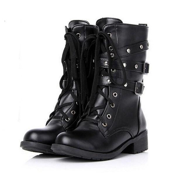 Women&Men Boots Vintage Punk Goth