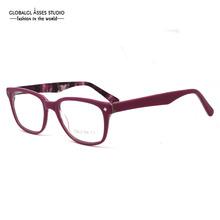 Women's Elegant Eyewear Frames Pink on Amber Color Big Lens Brand Designer Glasses Frames Oculos De Grau 35BG27006-C4