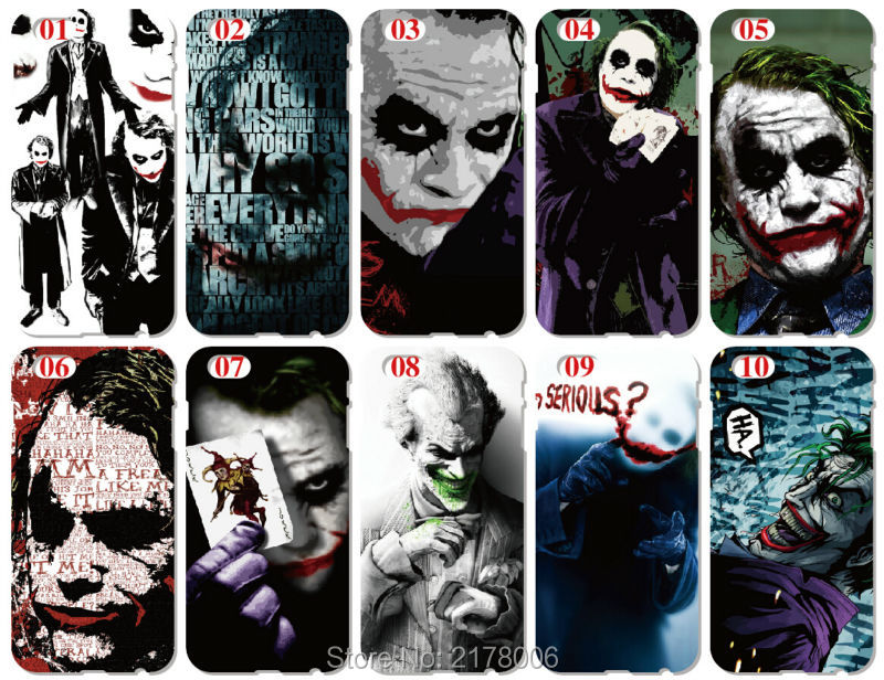 2016 Retail Printed Joker Cell Phone Cover For iphone 5 5S SE 5C 6 6S For Samsung Galaxy A3 A5 A7 A8 E5 E7 J1 J2 J3 J5 J7 Case(China (Mainland))