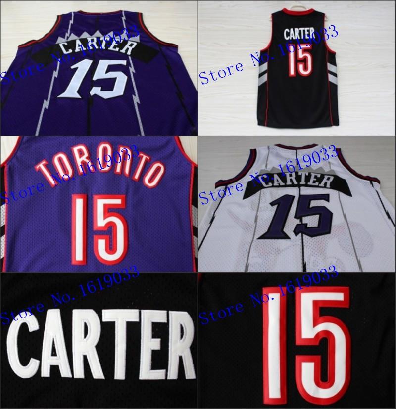 Toronto #15 Vince Carter Retro Throwback Basketball Jersey, Cheap Brand Mesh Embroidery Logos Jersey - White(China (Mainland))