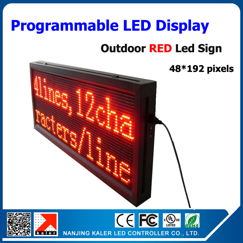 32*96 Pixel Resolution 1/4 scan 40*104cm single red p10 led display board outdoor p10 led screen module 320*160mm(China (Mainland))