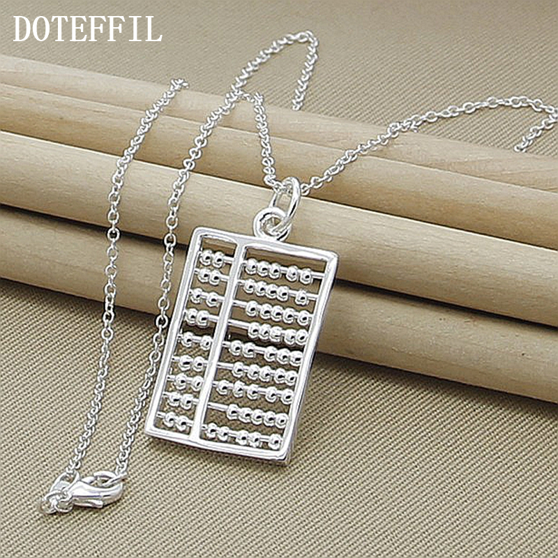 New Design Fashion Abacus Maths Pendant Necklace 925 sterling silver Geometric Gift Jewellry Free Shipping Wholesale(China (Mainland))