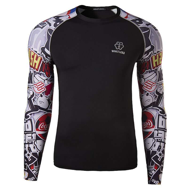 Brand New men Designer 3D T Shirt Slim Fit running Sport shirts Tops & Tees bodybuilding Cartoon Pirnted compression T-shirt(China (Mainland))