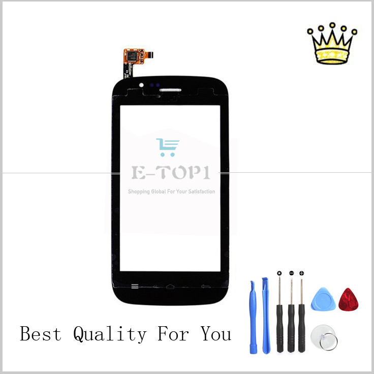4'' Black Explay A400 Capactive Wholesale Touch screen Digitizer Sensor Front Glass Replacement +Tools Free Shipping