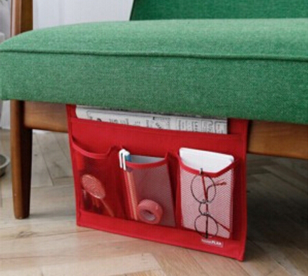 Home sofa storage bags bed hanger organizer book phone remote control basket(China (Mainland))
