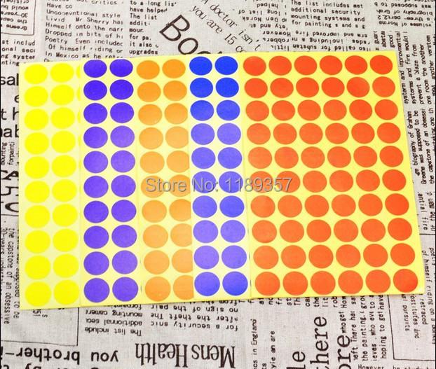 Etiquetas Circulares de Colores cm Circular Color Auto