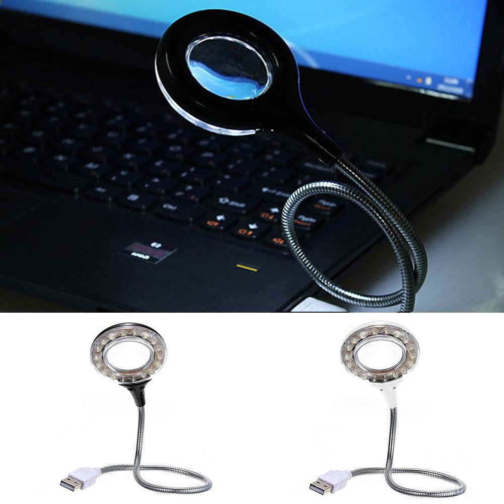 Гибкая 18 светодиодный USB настольная лампа для чтения с 4X увеличительным стеклом aeProduct.getSubject()