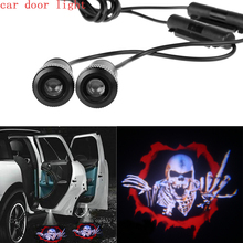 2Pcs Car door Led Welcome Laser Projector Logo Ghost Shadow Light 3D For SKULL(China (Mainland))