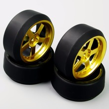 Buy HSP HPI 1:10 RC On-Road Racing Car Drift Tyre Tires &Wheel Rim Model Toys Accessory Car model 4pcs/set D5G+PP0370 for $8.97 in AliExpress store