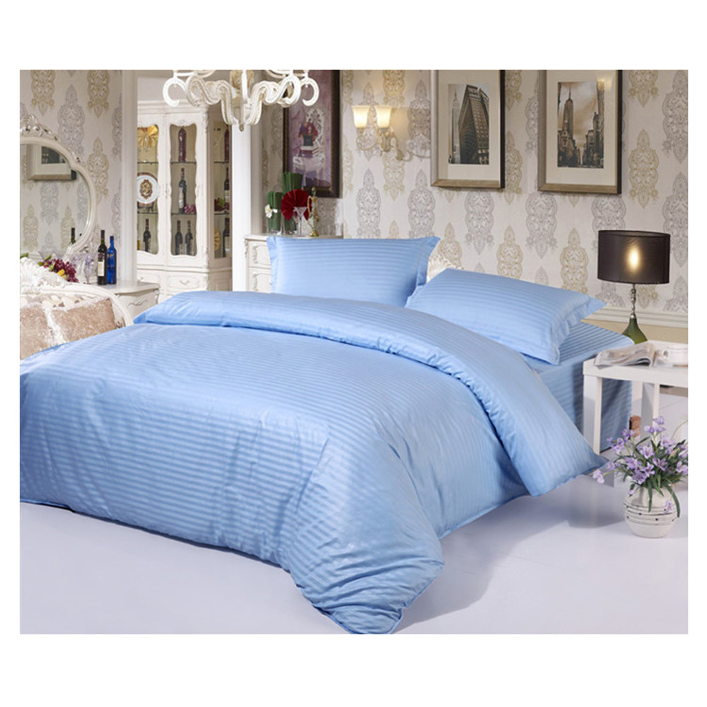 Light Blue Bed Duvet Cover Quilt Cover Bedding Sheet