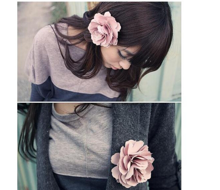 Min. order $9 (mix order) Multi-functional flower hair accessory also can be used brooch(China (Mainland))