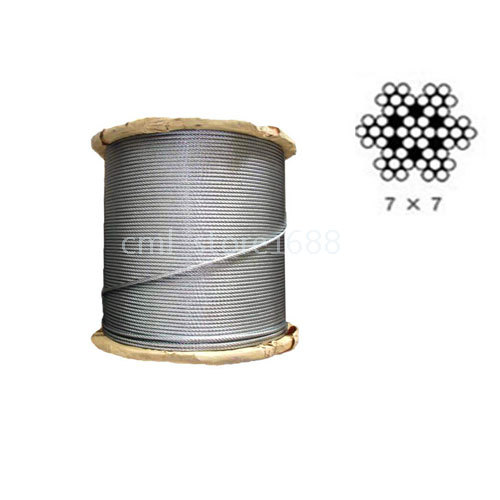 Free Shipping 2mm Marine Grade Stainless Steel Cable Wire Rope (10Meters)(China (Mainland))