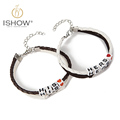 Hot selling snap button jewelry leather bracelets Valentine s Day Gift Hers and His charm bracelet