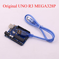 10PCS LOT UNO R3 for arduino MEGA328P 100 original ATMEGA16U2 with USB Cable