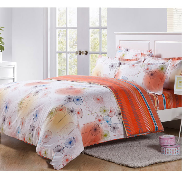 Hot Sell 4pcs Bedding Sets Cheap Comforter Set Queen Twin Size Bed Sheet Floral Dandelion