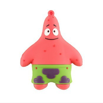 Genuine Wholesale 10pcs/lot real Capacity patrick star USB Flash Drive memory pen gift free shipping<br><br>Aliexpress