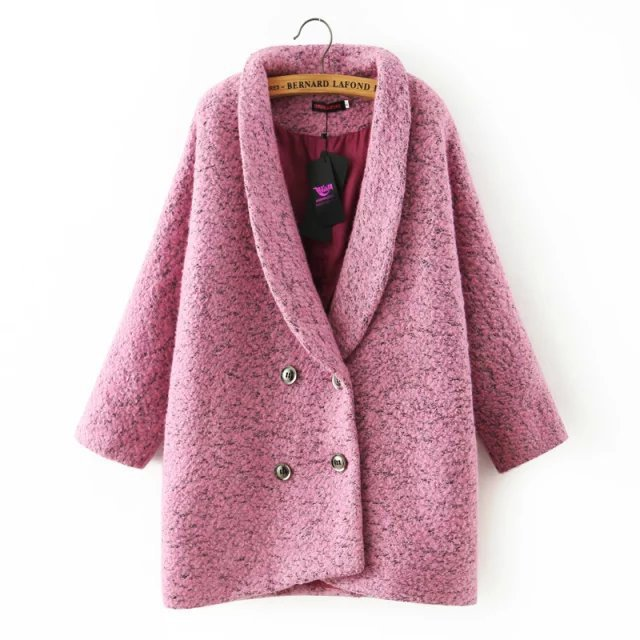 Здесь можно купить  Suit collar loose women winter jacket 2015 new Fashion woolen cardigan female overcoat elegant ladies coats cute casual coat 8  Одежда и аксессуары