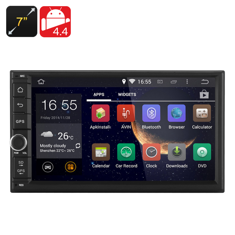 7 Inch Android 4.4 Car Media Player - 2DIN Fitting, 3G, Bluetooth, Wi-Fi, GPS, RK3066 1.6GHz CPU, 1GB RAM(China (Mainland))
