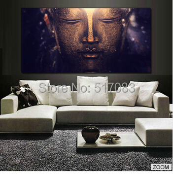 FREE SHUPPING Large Size Buddha Canvas Painting for interior Room Decoration(unframed)50x100cm(China (Mainland))