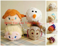 Free Shipping 3.5'' Tsum Tsum Elsa Plush toy Elsa Anna doll Olaf Sven toys Cute doll Screen Cleaner for Phone tsum Plush doll