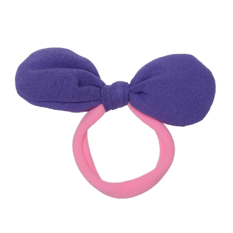 sweet candy colors children summer style hair accessories kids girls bow rope ties cloth bands - E-Shocking store