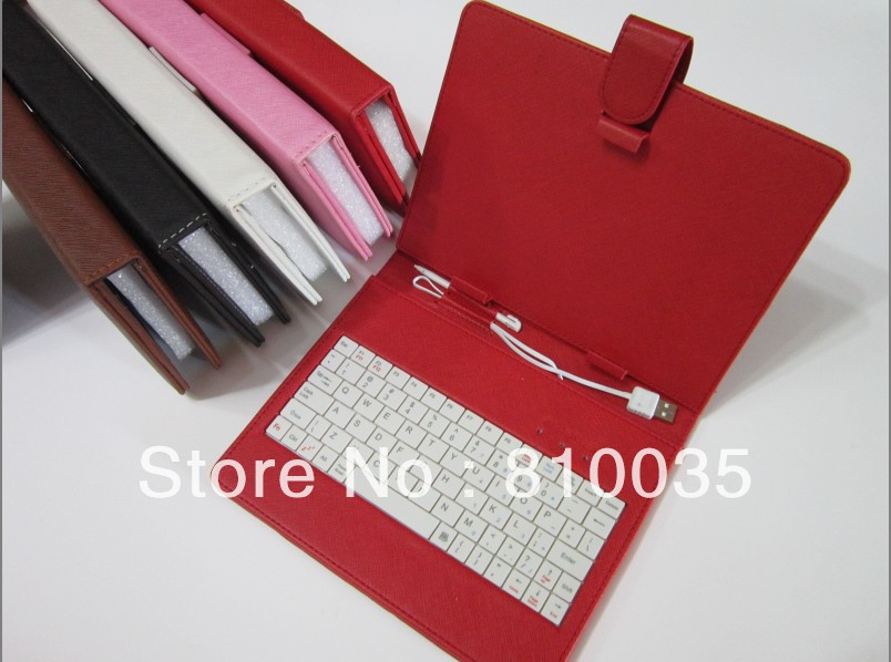 """Free shipping 7inch universal case with usb keyboard for 7"""" TABLET PC MID APAD(China (Mainland))"""