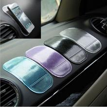 1PCS Non Slip Car Sticky Anti-Slip Mat Automobiles Interior Accessories Magic Sticky Pad for Mobile Phone GPS Mp4 Pad(China (Mainland))