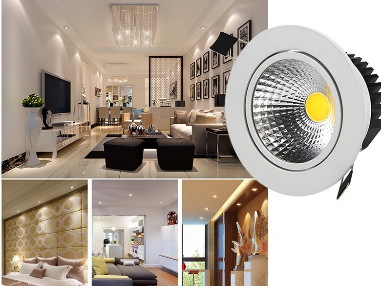 [DBF] Super Bright Recessed LED Dimmable Downlight COB 5W 7W 9W 12W LED Spot light LED decoration Ceiling Lamp AC 110V 220V (5)
