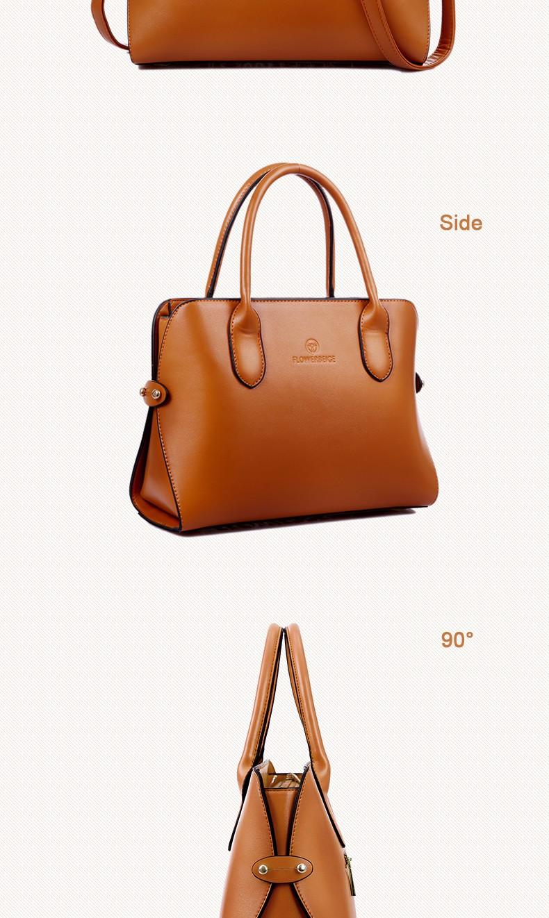 Women Occident Style Handbag Elegant Designer Shoulder Bag Exquisite PU Bag Ladies Stylish Plain Large Hand Bag