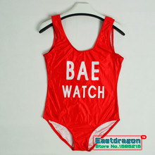 2016 BAE WATCH Swimsuit Bodysuit One-Piece Swimwear Women's Red Monokini Rompers Womens Jumpsuit Costume Sexy One Piece Swimsuit(China (Mainland))