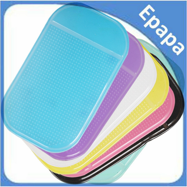 2PCS Super Sticky Pad Car Anti-slip Multi-functional Mat For Mobile Phone / Glasses / Card / Paper - 7 Optional Colors(China (Mainland))