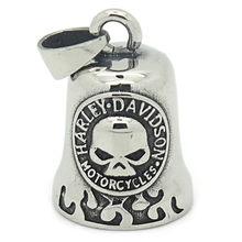 New Arrival Cool Charm Boy Stainless Steel Skull Bell Pendant Jewelry,Top Quality Biker Unique Silver Gothic Pendant for Men(China (Mainland))