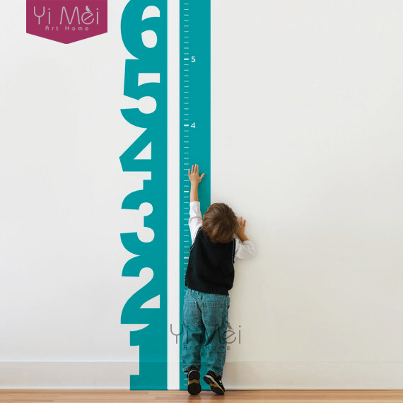 wall decal growth chart