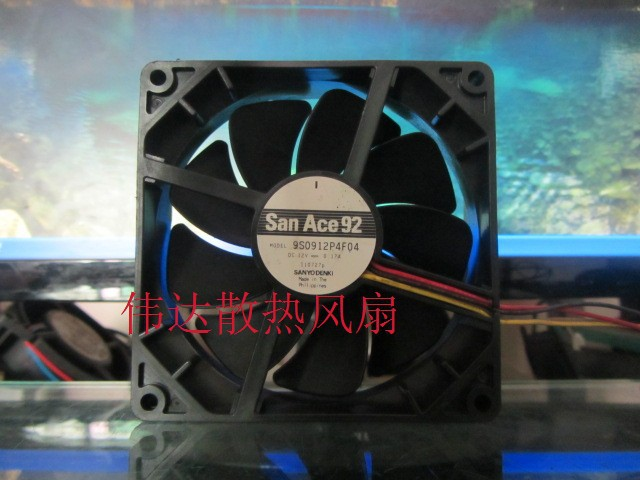 Free Shipping SANYO DENKI 9225 PWM silent fan 9S0912P4F04 first high-end gamers server inverter cooling cooler <br><br>Aliexpress