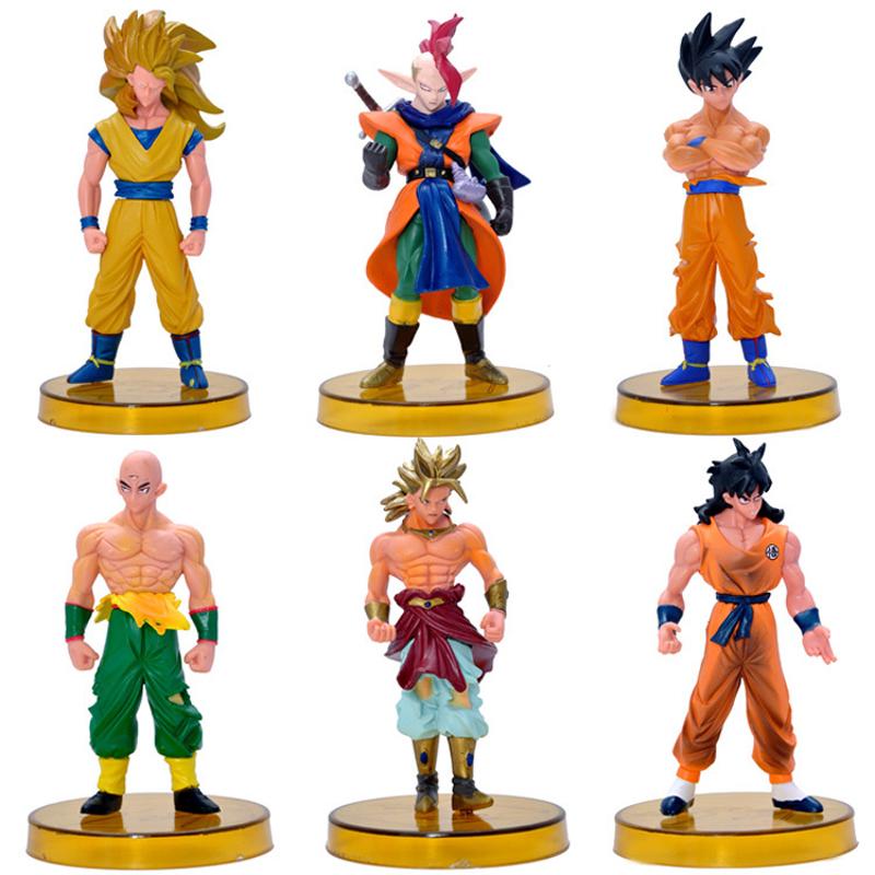 6PCS/LOT Japanese Dragon Ball Z Action Figures Gotenks ZERO Saiyan PVC 14cm Anime Dragonball Z Figures Goku Action Figures Toys(China (Mainland))