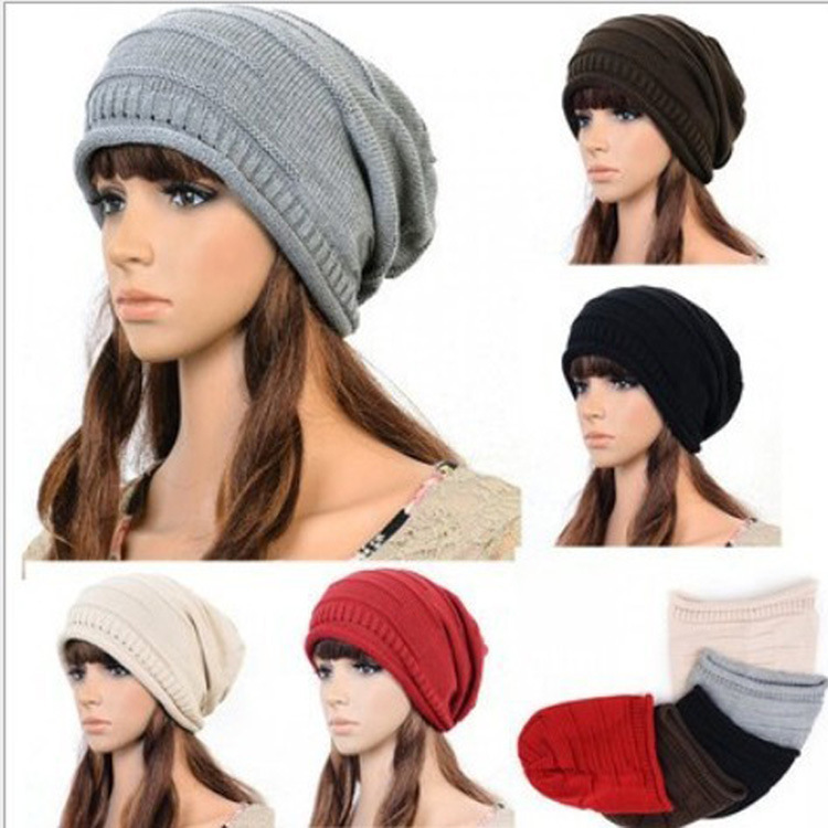 2015 womens fall fashion beanie Winter Hats for Women mask hat Fold Cap Hip-hop Hat Head Sleeve Knit Wholesale Fashion Winter(China (Mainland))