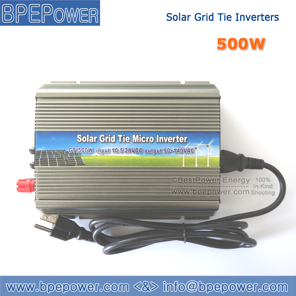 500W Grid Tie Micro Inverter,10.5~28V DC to AC 90~140V 500Watt Pure Sine Wave Power Inversor Suitable for 500~620W 18V PV Module(China (Mainland))