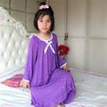 Nightgowns for childr Girls Modal pajamas summer Robe Long Nightdress kids s lounge Nightwear