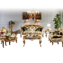 Baroque Luxury Living room Sofa combination of European hand-carved wood classical single double three-seat Sofa(China (Mainland))