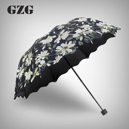 Creative Adult Flowers Umbrella rain women Romantic Folding Classic Anti-uv Sun/Rain Durable brand beach Umbrella(China (Mainland))