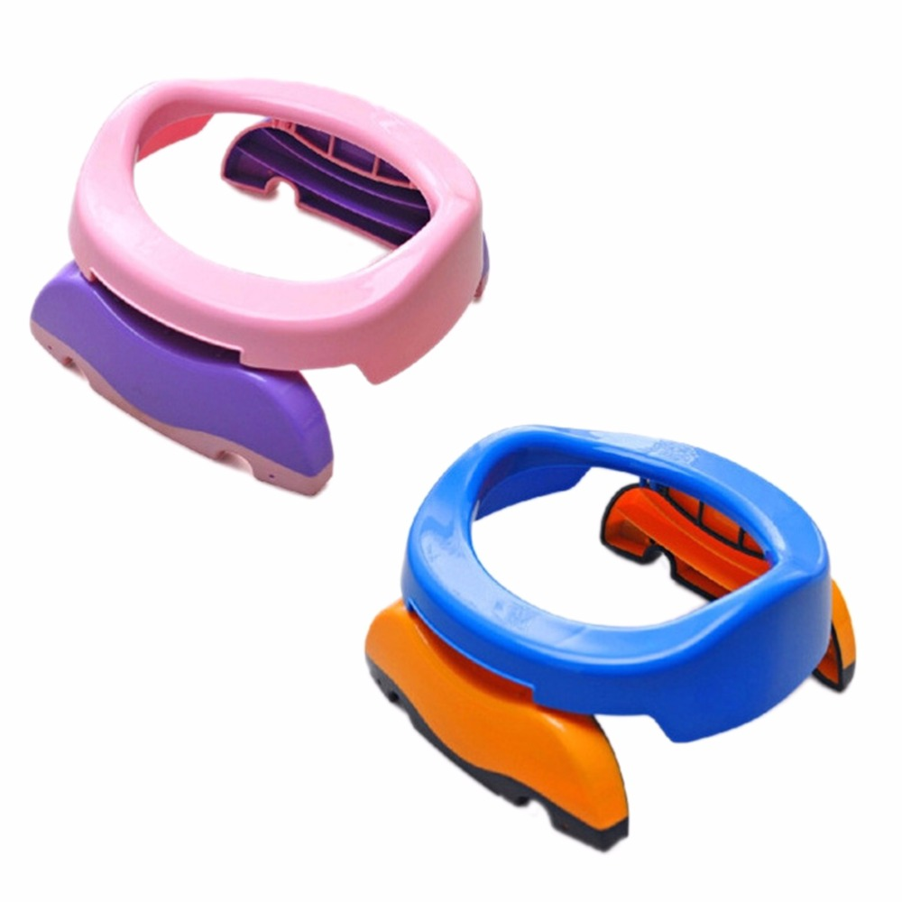 Blue Pink 2 in 1 Seat Multifunction Eco-friendly Stool Kids Comfortable Portable Toilet Baby Travel Potty Chair Assistant