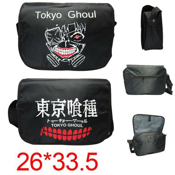 Anime Tokyo Ghoul MOKONA Black Messager Bag Shoulder Bag Satchel school bags single shoulder sling sport travel Notebook Bags(China (Mainland))