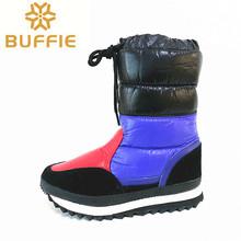 2016 nuevo de las mujeres de la nieve del invierno botas de color negro y azul real más el tamaño de la plataforma suela de EVA ligera invierno cálido zapatos(China (Mainland))