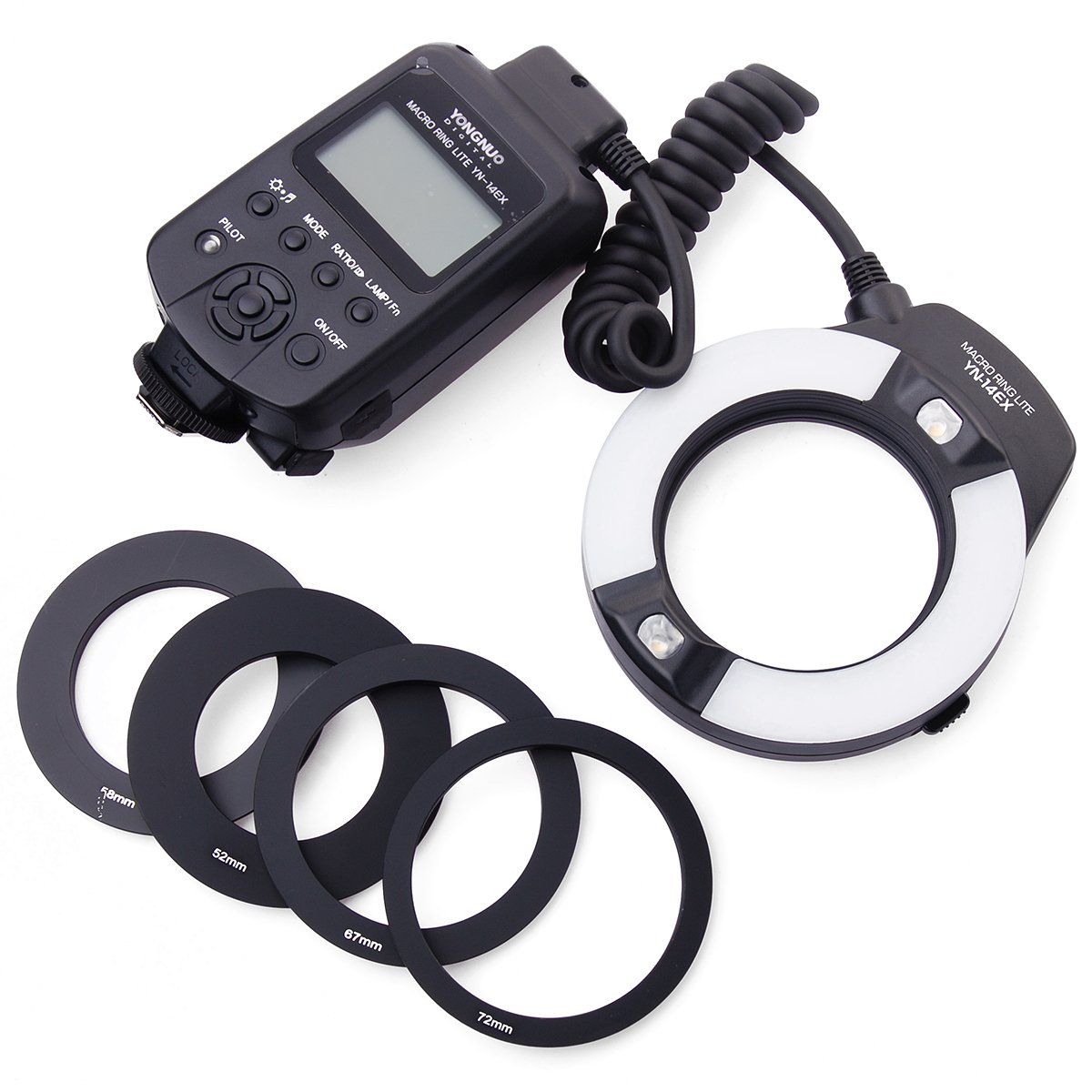 Yongnuo YN-14EX Macro Ring TTL Flash Light + Adapter Canon DSLR 6D 7D LF464