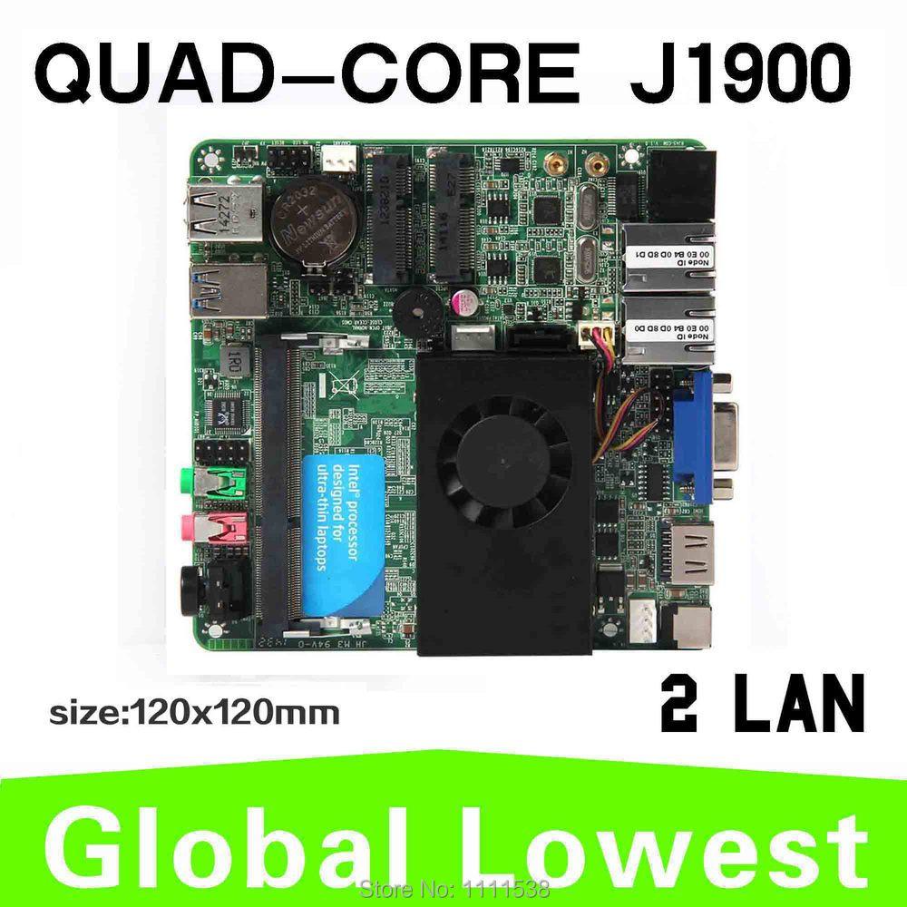 newest industrial mothebroard x-29 J1900 celeron quad-core fan desktop 2 lan mini itx motherboard(China (Mainland))
