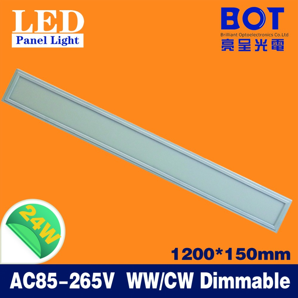 1200*150mm 24W LED panel light 2pcs/lot SMD2835 LED office home ceiling lighting nature white warm white color power saving(China (Mainland))